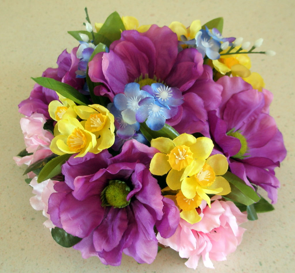 Newest designs floral cake toppers elegant affordable silk colorful purple anemone floral cake topper mightylinksfo